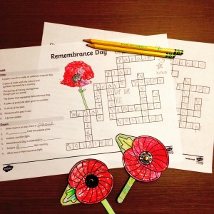 Twinkl Remembrance Day Crossword