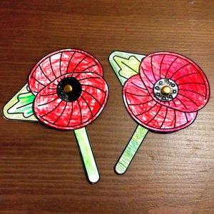 Twinkl Split Pin Poppies