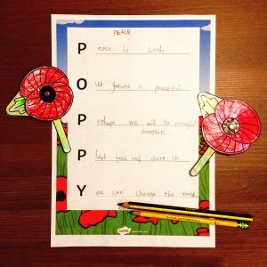 Poppy Acrostic Poem