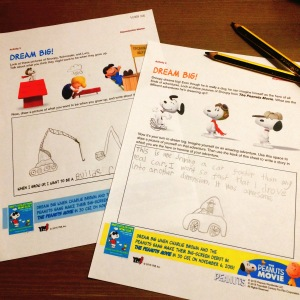 ymi-snoopy-worksheets